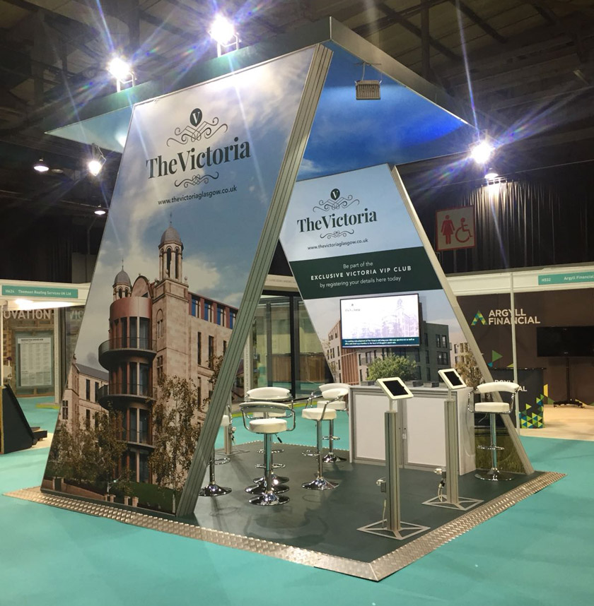 The Victoria stand at the Ideal Home Show