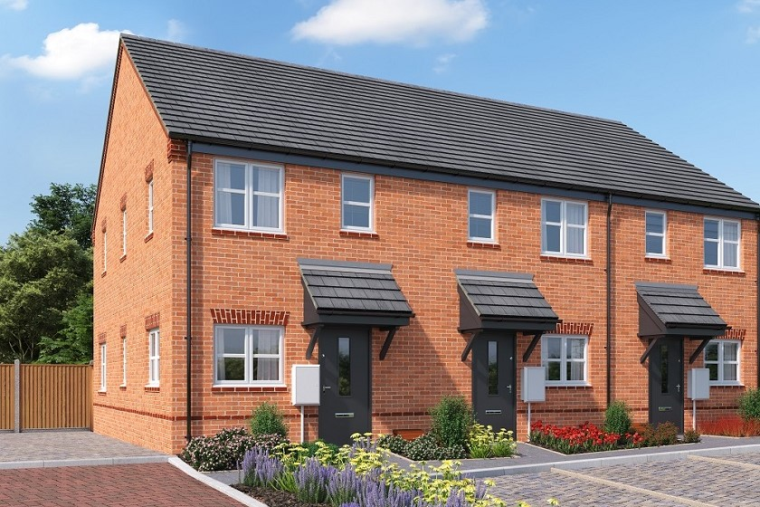 CGI of The Weald two-bedroom home in the Bullwood Gardens development