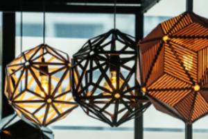 Close up of lampshades