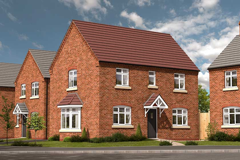 A computer generated image of the proposed exterior of the Egremont-style 4 bed detached property.