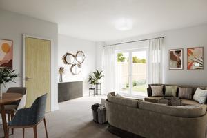 Internal of open-plan living room