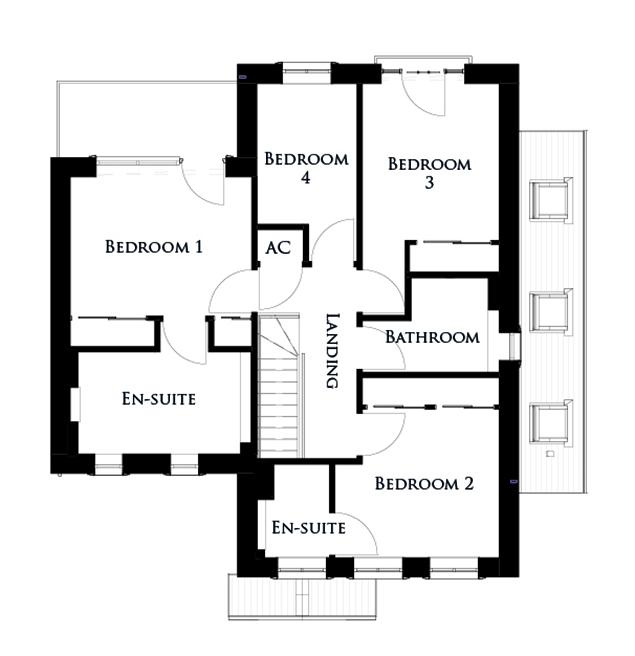 First floor plan for The Osprey