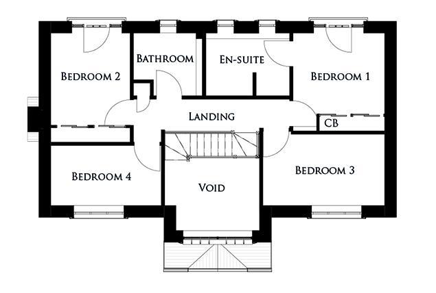 First floor plan for The Skylark