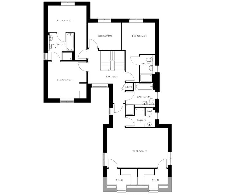 Bullwood Gardens - The Cressing - first floor plan