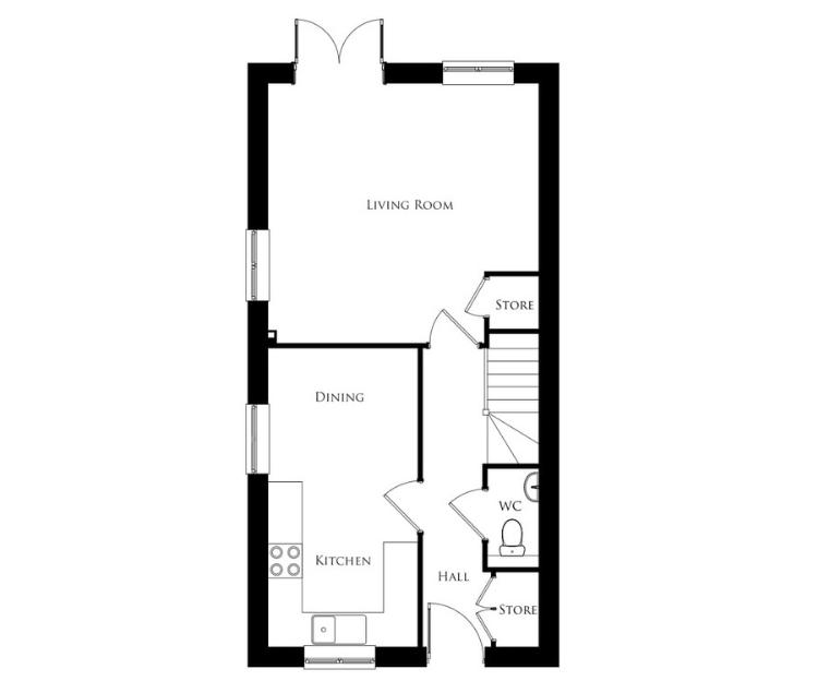 Bullwood Gardens - The Thorndon - ground floor plan