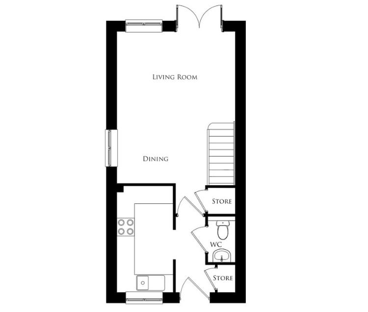 Bullwood Gardens - The Weald - ground floor plan