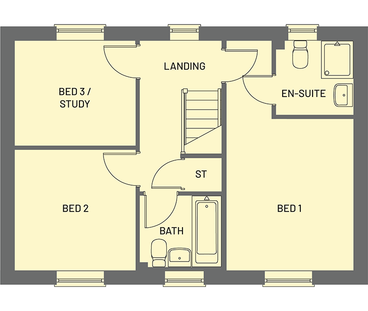 The Cameo Orchardside Development Property Floor Plan - First Floor
