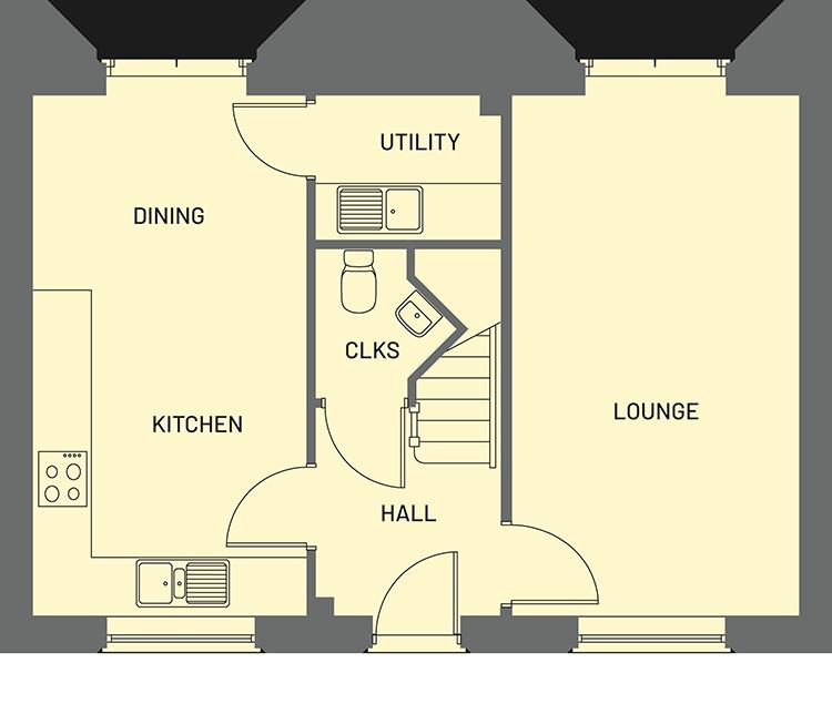 The Cameo Orchardside Development Property Floor Plan - Ground Floor