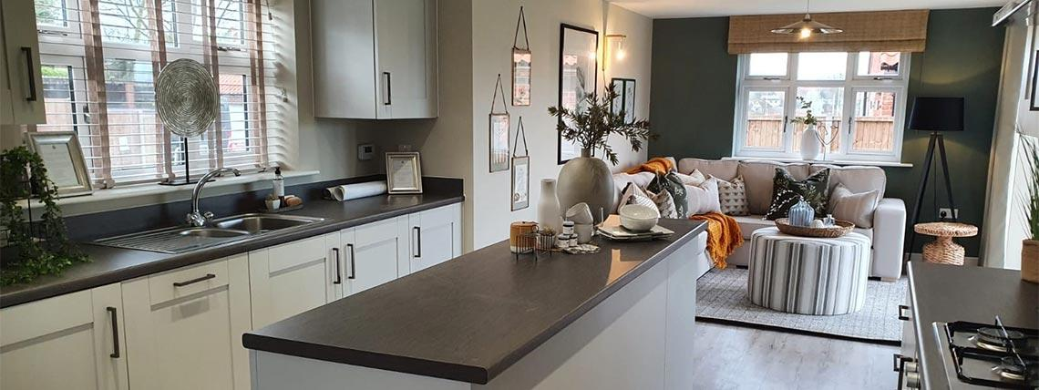Example interior of the kitchen at the Orchardside development