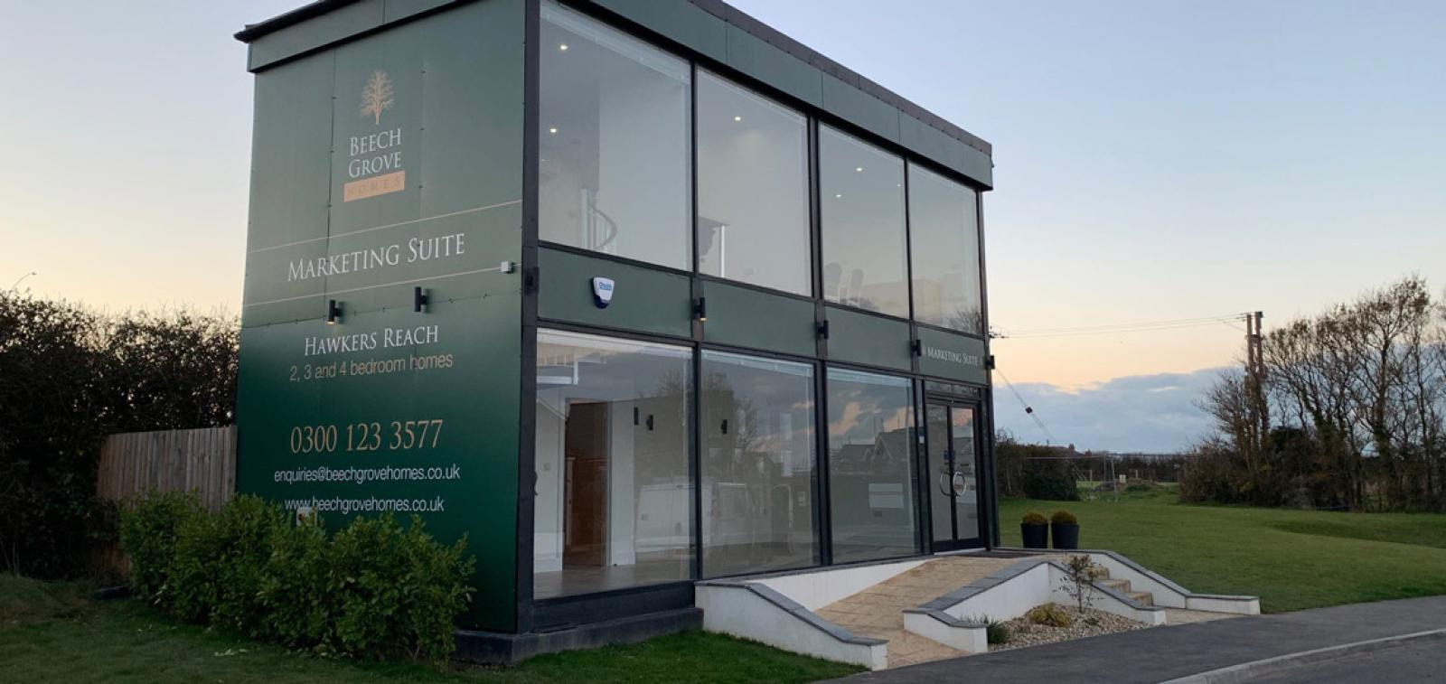 Marketing suite at Hawkers Reach, Padstow