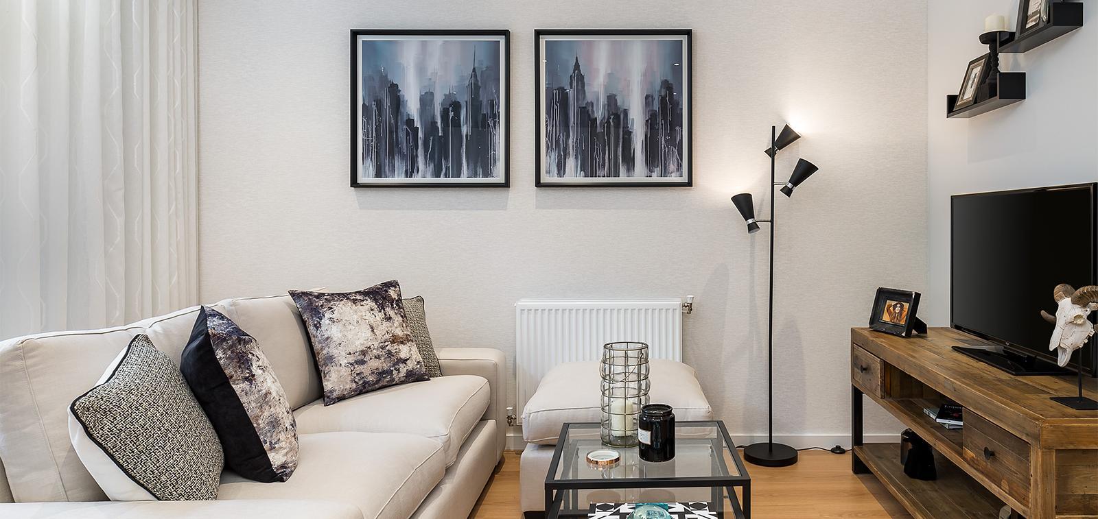 Example Beech Grove Homes living room.