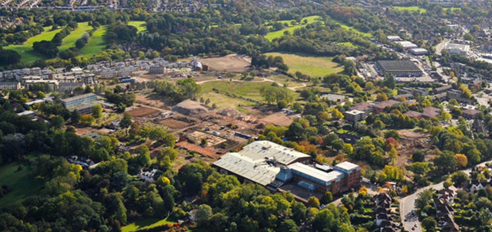 Millbrook Park aerial photo.