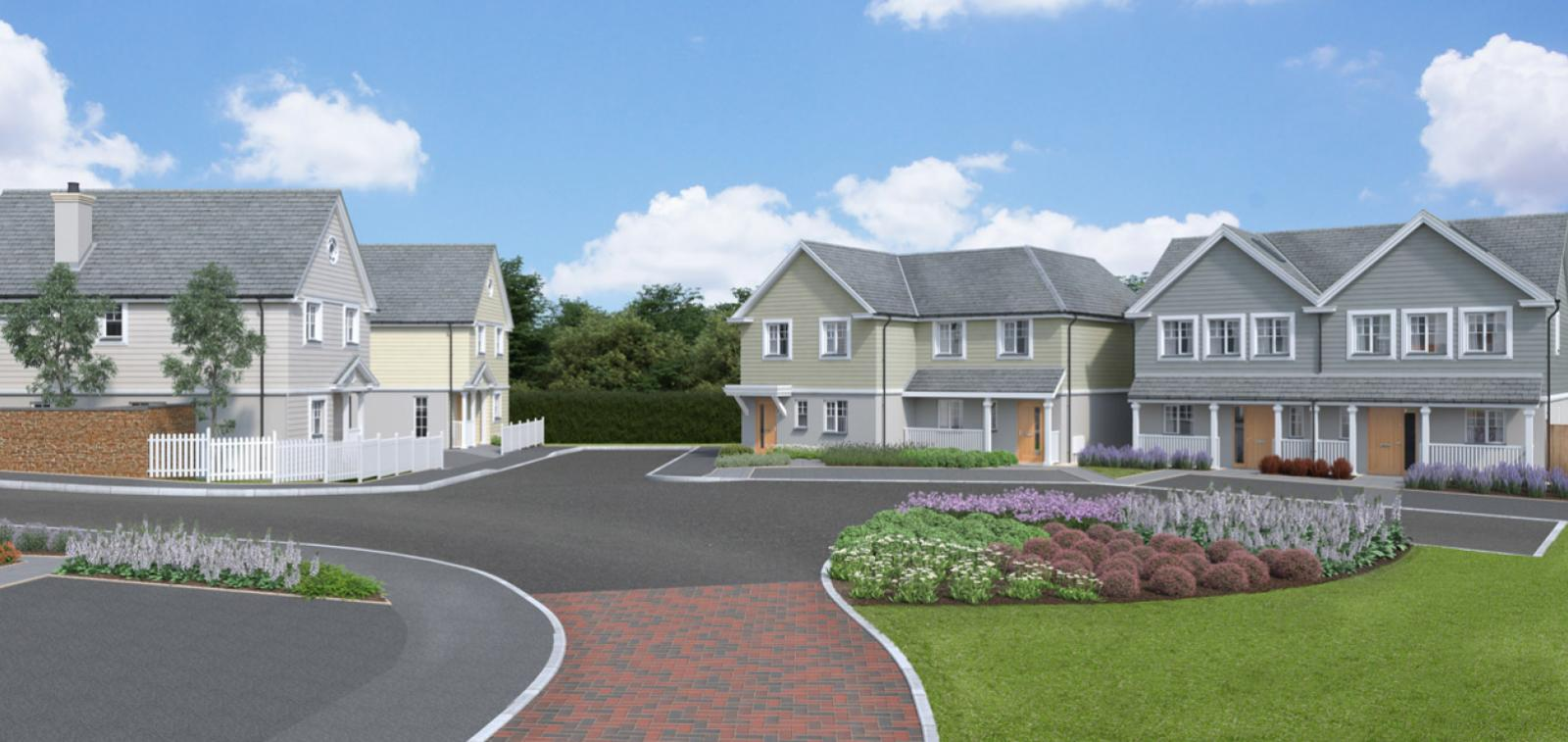 CGI of properties at our Hawkers Reach development.
