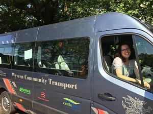 Wyvern Community Transport charity van