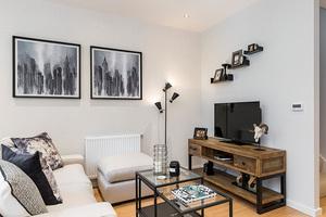 Internal shot of a living room