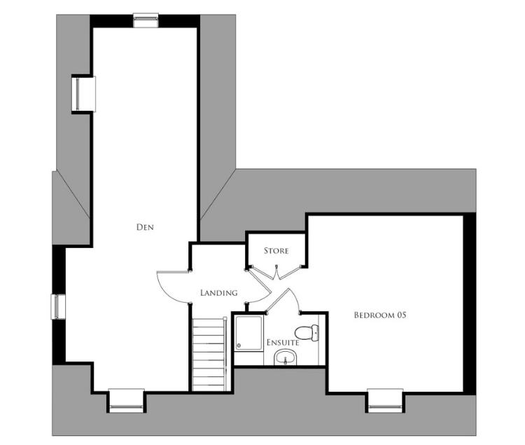 Bullwood Gardens - The Belhus - second floor plan