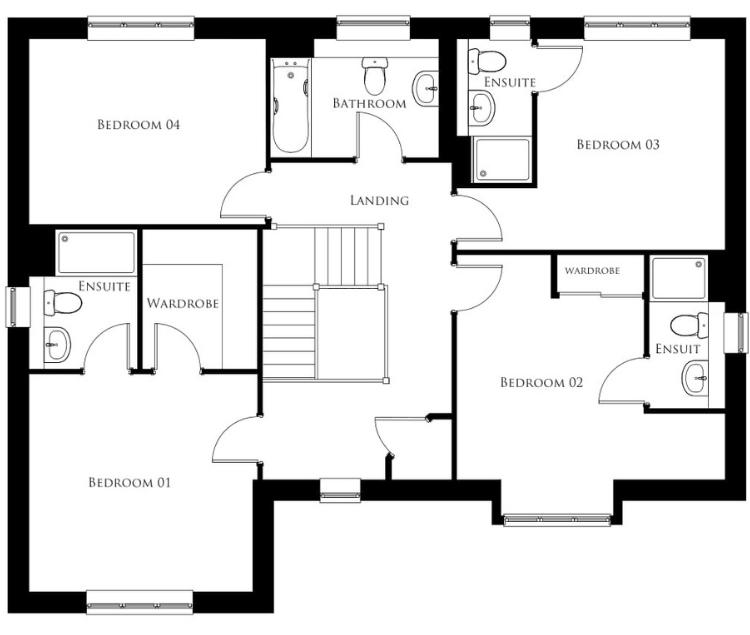 Bullwood Gardens - The Hadleigh - first floor plan