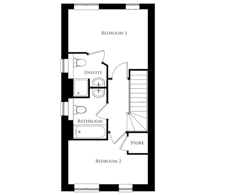 Bullwood Gardens - The Weald - first floor plan