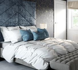 Example interior of a bedroom at the Bullwood Gardens development