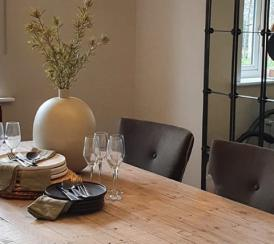 Example interior of the dining room at the Orchardside development